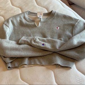 Gray Champion Crop Sweater